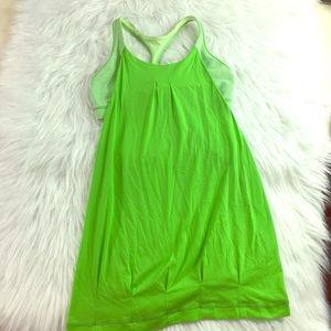 Lululemon Green & White Wild Tank Size 4